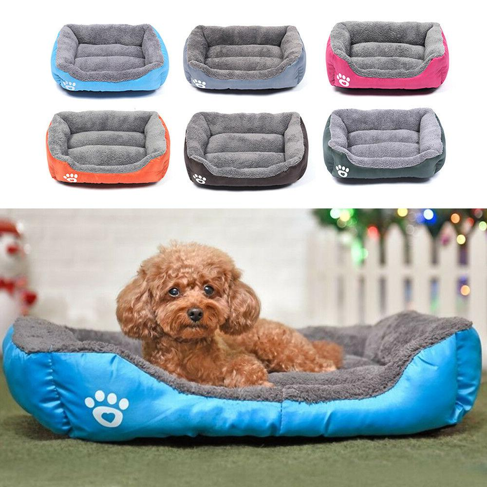 large pet dog cat bed puppy cushion