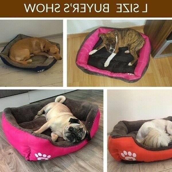 Large Pet Cat Sleeping Bed Soft Warm House Mat Basket