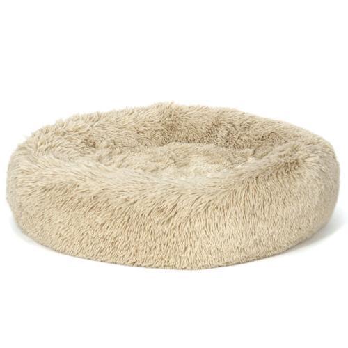 donut faux fur cat dog pet bed