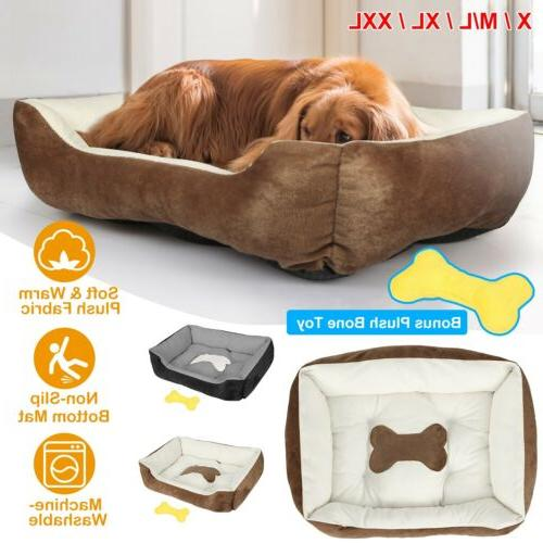 large soft warm fleece pet bed dog