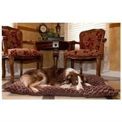 Lavish Cushion Pillow Furry Pet Bed - Color: Chocolate, Size