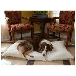 Lavish Cushion Pillow Furry Pet Bed - Size: XXLarge - 48 W x