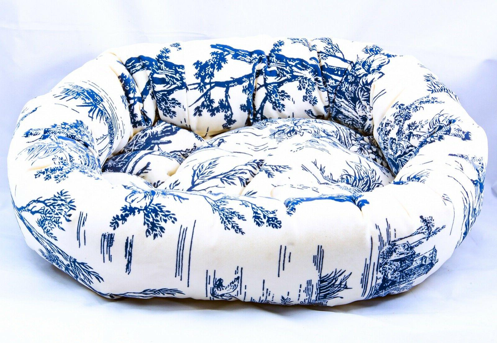 luxury cushioned donut dog bed w microvelvet