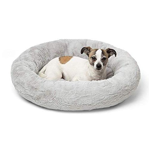 Best Luxury Faux Fur Donut Cuddler Small Round Cat and Orthopedic