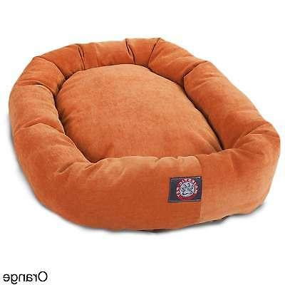 Majestic Pet Micro-velvet Bagel-style Large/Extra Large Dog