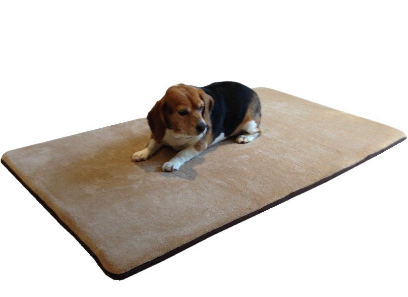 Medium - XL Large Waterproof Memory Foam Pet Bed Mat Pillow