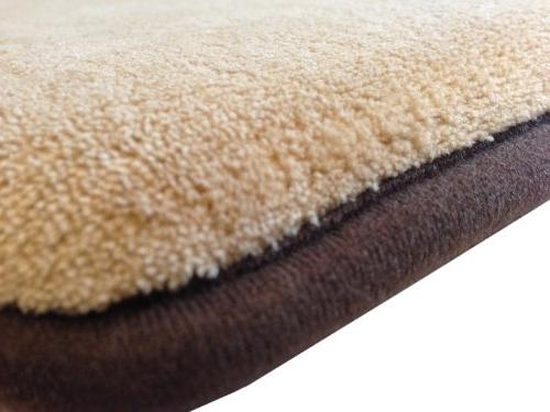 Velour Bed Mat Pillow Topper with Anti Slip Bottom Crate Size