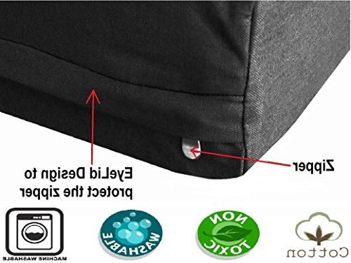 Dogbed4less XL Orthopedic Pet Waterproof External Canvas Length Black