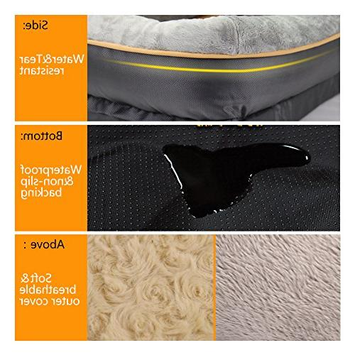 JOYELF Dog Bed, Orthopedic Bed Sofa Removable Washable Cover Squeaker as Gift