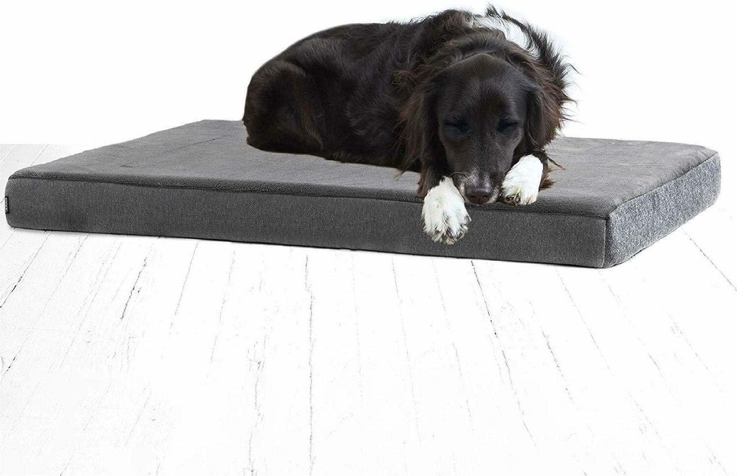 memory foam dog bed plush orthopedic joint