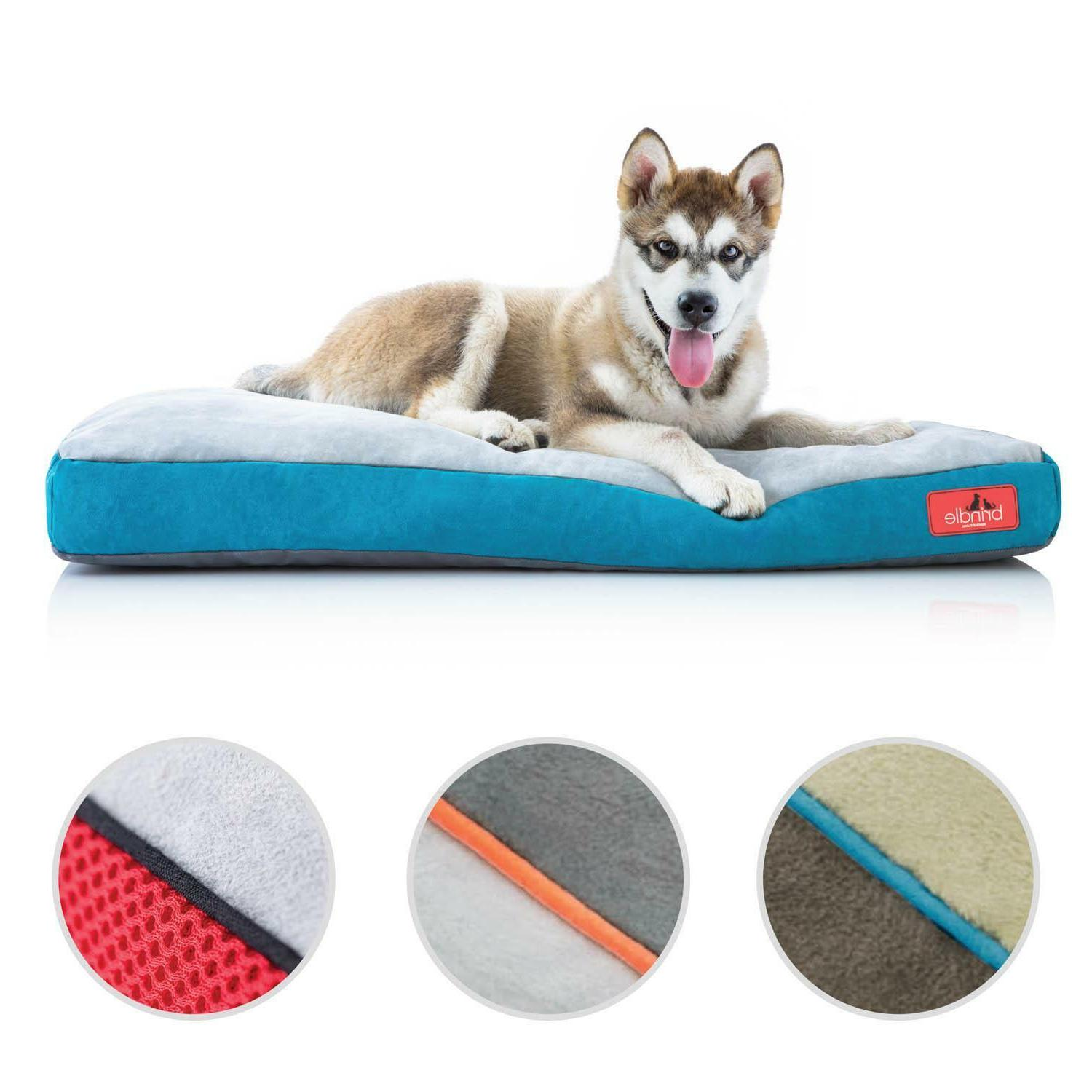 memory foam dog bed with removable washable