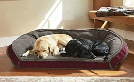 Orvis Fleece Lined Deep Dish Poly-fill Dog Bed MEDIUM Cozy B