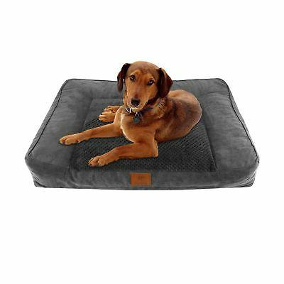 American Kennel Club Memory Foam Sofa Pet Bed X-Large Gray
