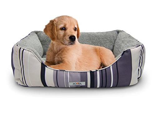 ASPCA Microtech Striped Bed 28 by 18 by 8-Inch,