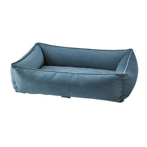 microvelvet harbour blue urban lounger rectangle dog
