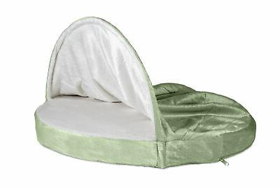 FurHaven Microvelvet Snuggery Dog Cave Bed