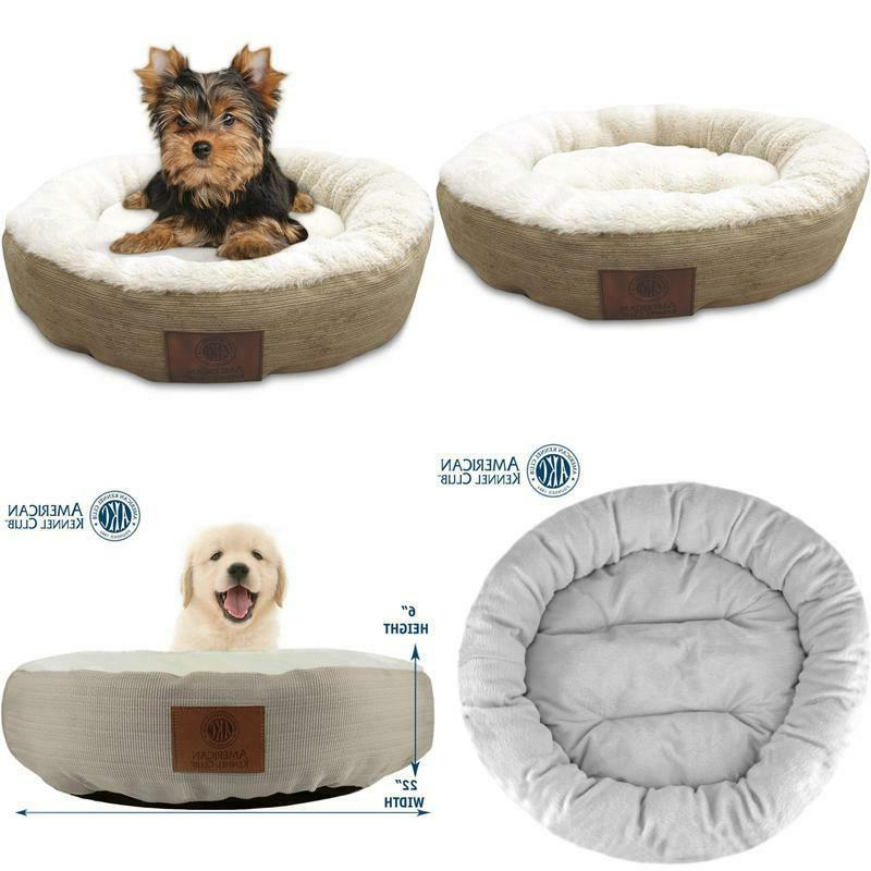 new round pet bed dog cat pad