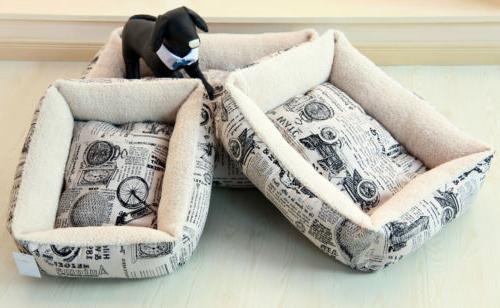Newspaper Vintage Bed Cushion Warm For