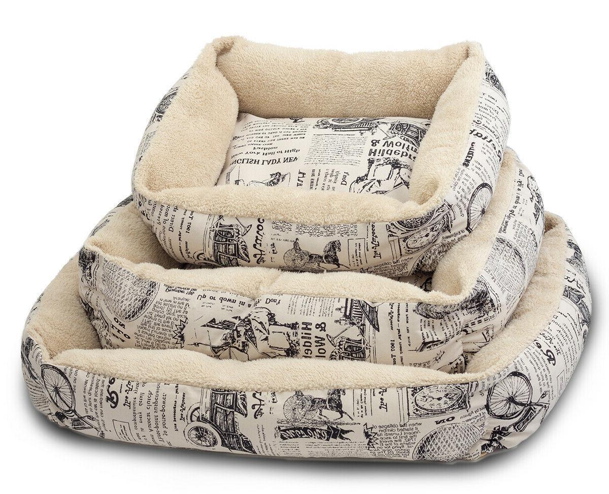 Paws & Pals Plush Dog Bed - Large