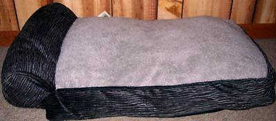 NWT ASPCA Rectangular Corduroy Grey Pet Dog Cat Day Bed Loun