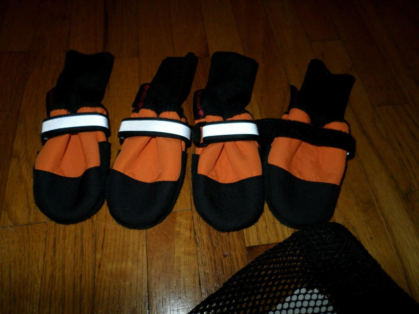 MUTTLUKS Orange XSmall NEW Dog Boots LEATHER