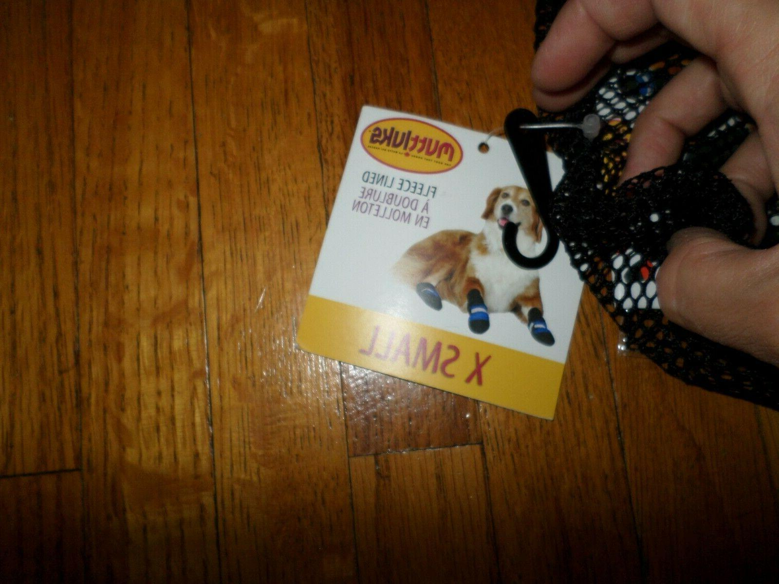 MUTTLUKS Orange XS XSmall NEW Dog Boots