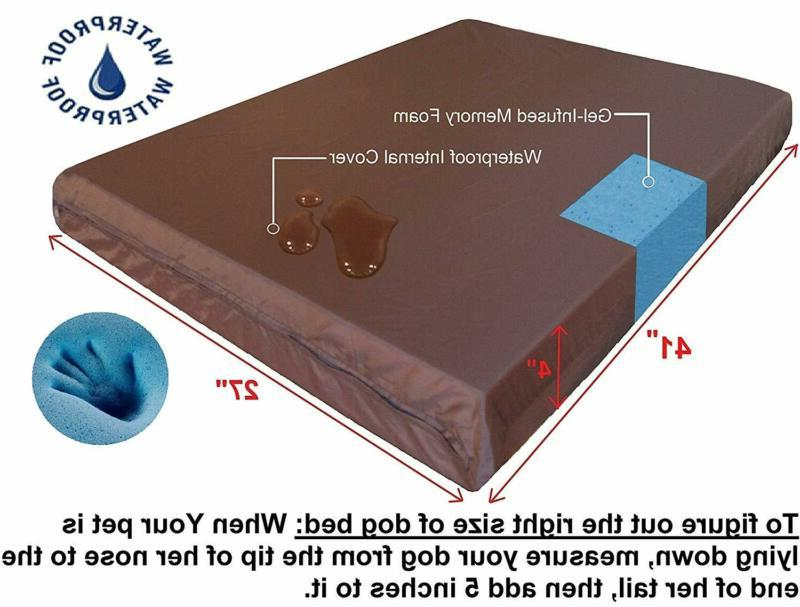 Dogbed4Less Orthopedic Memory Foam Bed Small, To Large