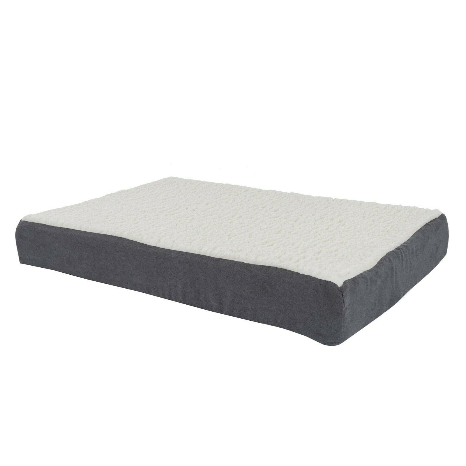 Orthopedic Dog Bed Memory Foam Cozy Sherpa 20 x 15 x 4 Washa