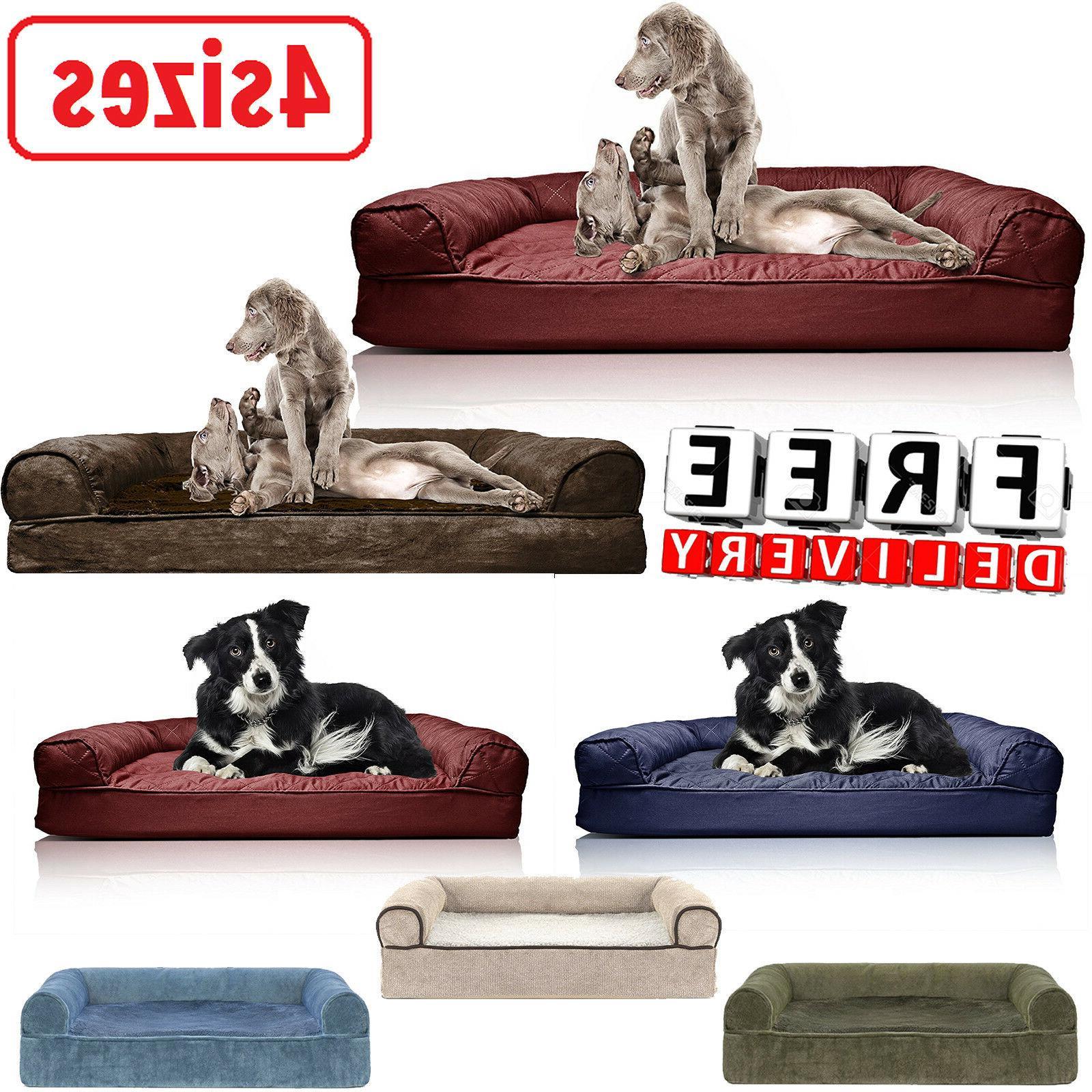 orthopedic dog sofa bed foam cat pets