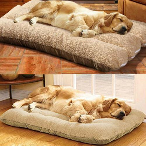 xl orthopedic dog bed pillow plush sherpa
