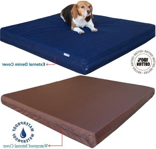 Memory Foam Bed, Waterproof Bed 40X35X4