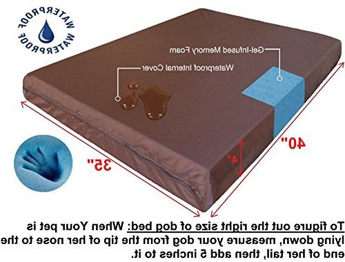 Dogbed4less Extra Memory Waterproof Bed Cover,