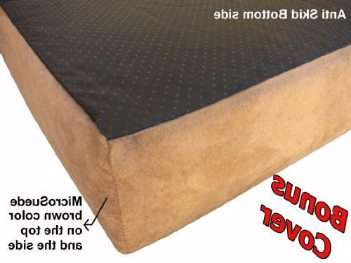 Dogbed4less Large Orthopedic Memory Foam Waterproof Extra Bed Cover,