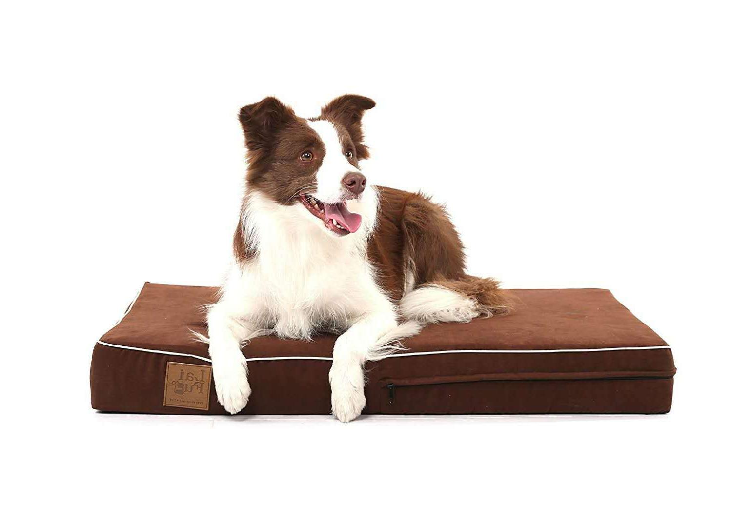 Laifug Orthopedic Memory Foam Dog Bed Durable Waterproof Lin