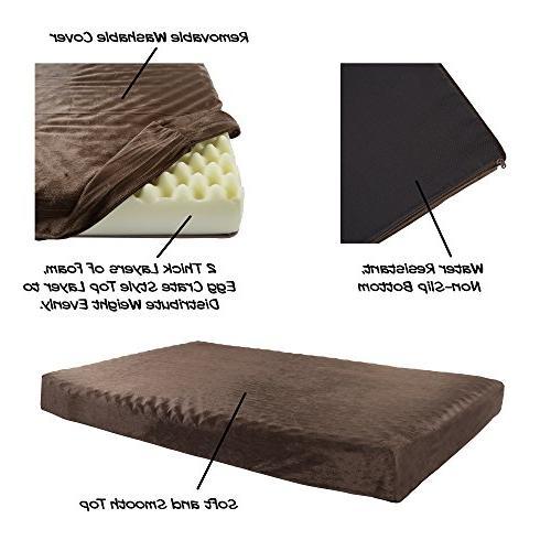 Orthopedic Pet Bed Foam 46x27x4 Brown