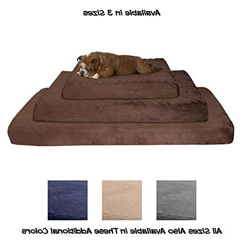 Orthopedic Egg Crate and Memory Foam with Washable 46x27x4 by PETMAKER Brown