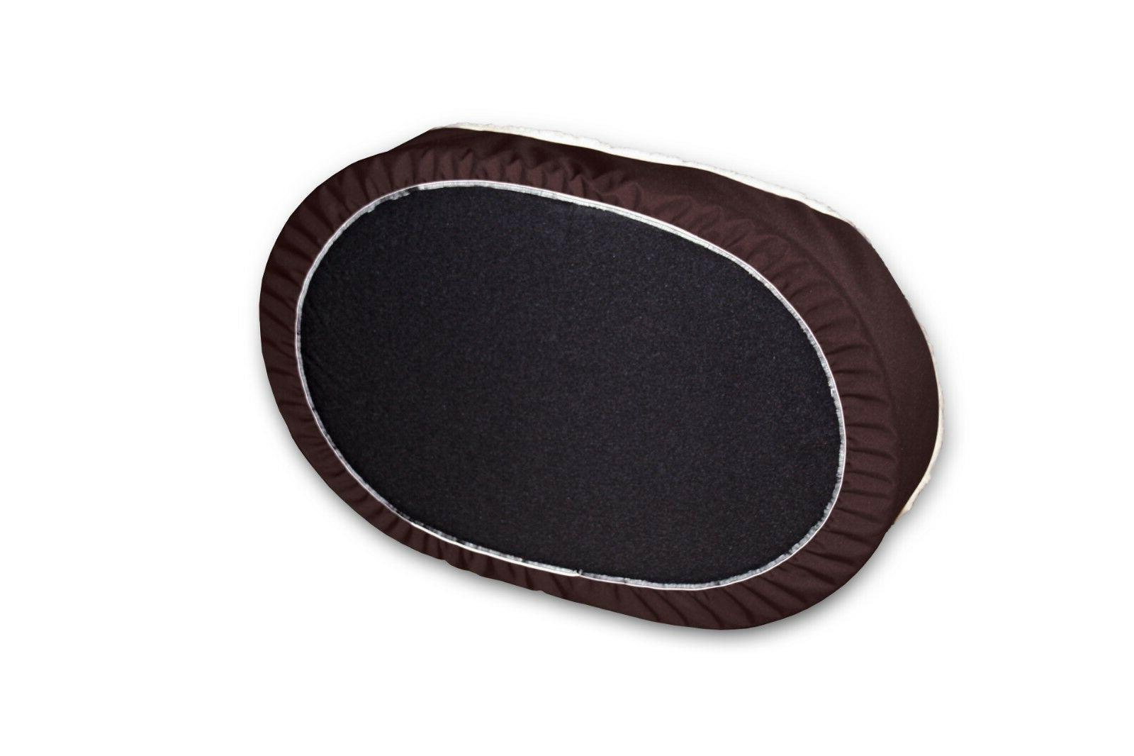 Dog Ortho Nest Dog Bed. Brown/Brown Imitation Lambswool.