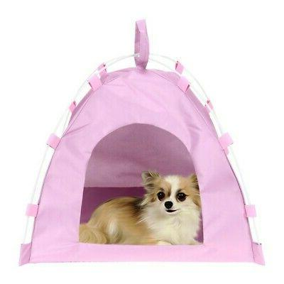 USA Cat Indoor Outdoor Folding Portable Teepee Waterproof Do
