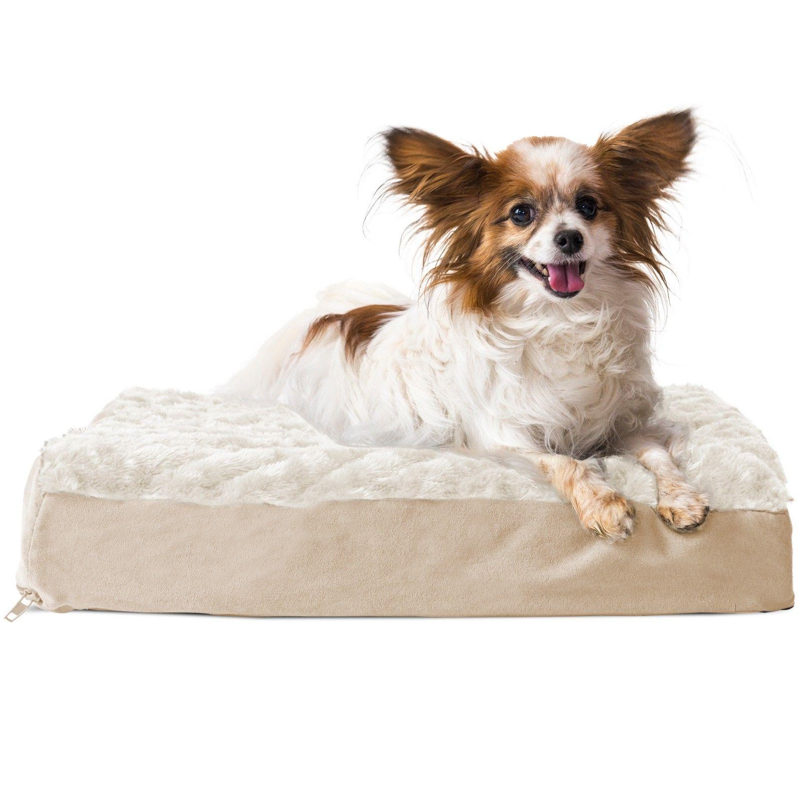 FurHaven Memory Foam Ultra Plush Deluxe Mat Bed