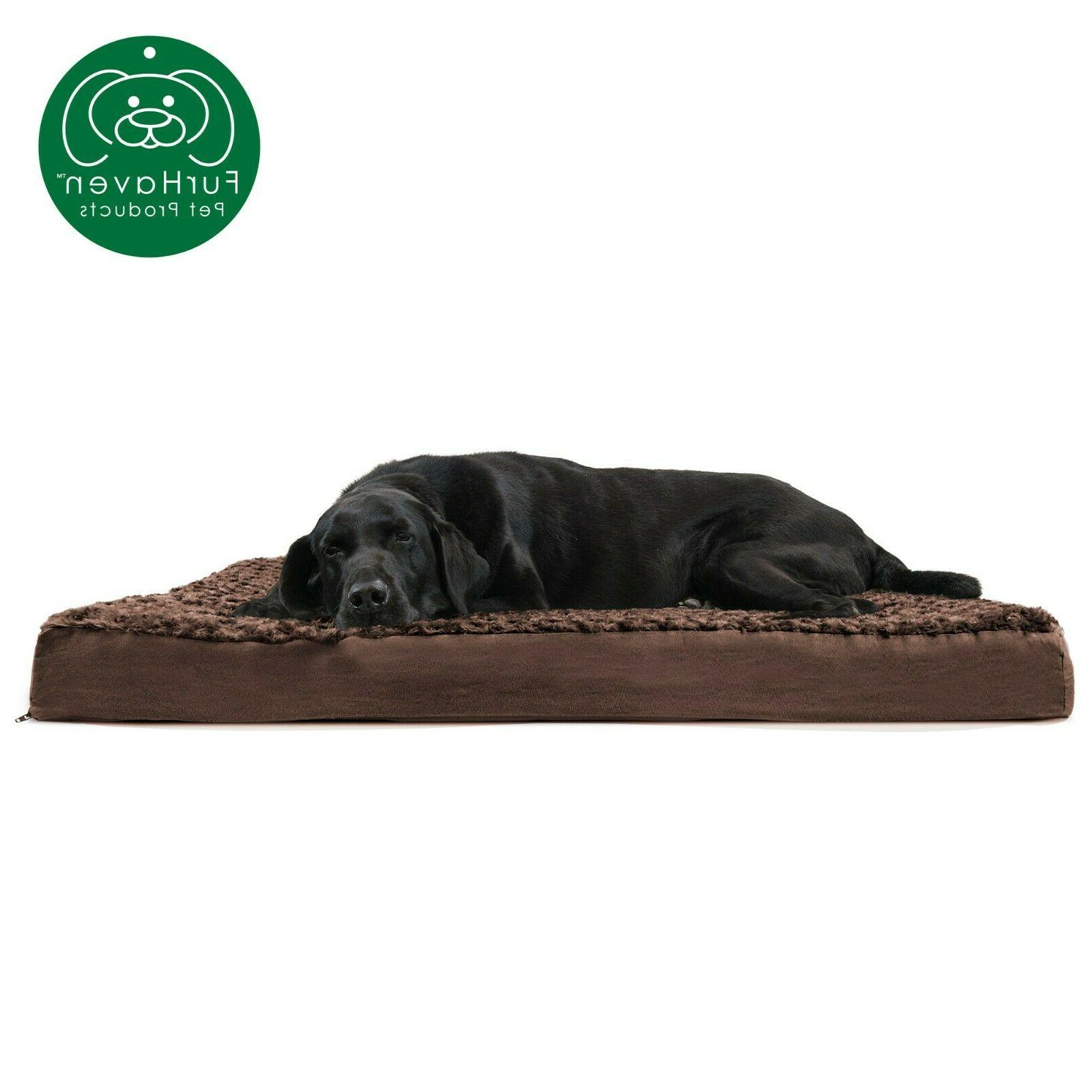 FurHaven Orthopedic, Memory Deluxe Mat Dog Bed