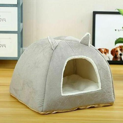Pet Dog Beds Nest Puppy Sleeping Cave Plush Kennel House