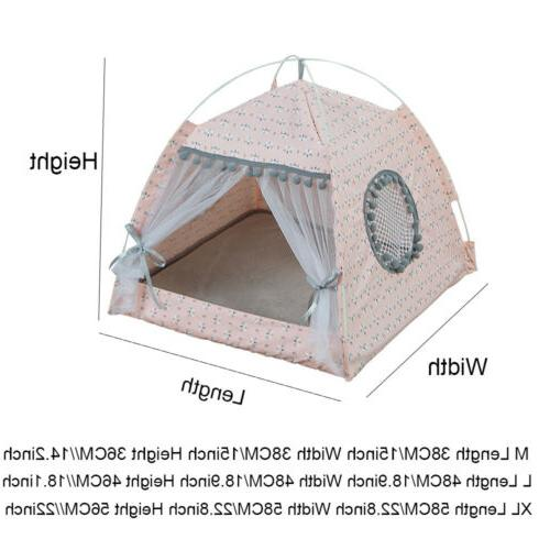 Pet Bed Kitten Small Teepee Spring Breathable Kennel NEW