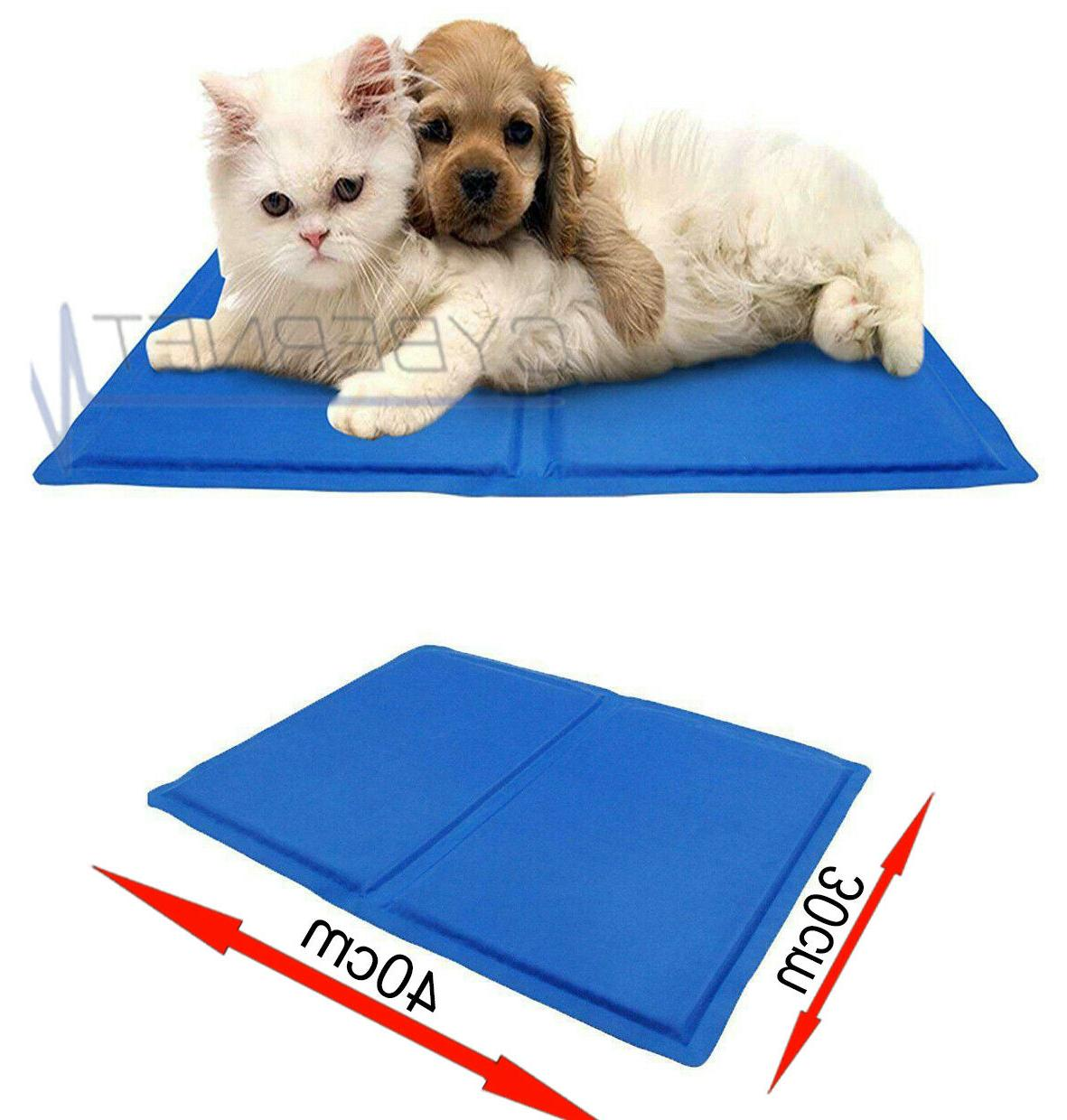 PET COOLING GEL BED CAT HEAT RELIEF TOXIC CUSHION