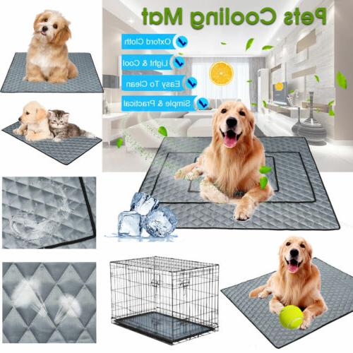 Pet Cooling Mat Non-Toxic Cool Gel Pad Cooling Pet Bed for S