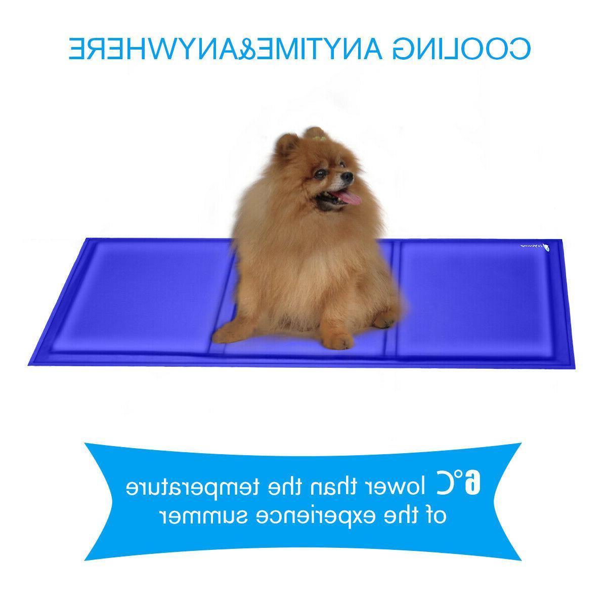 Pet Cooling Mat Pad Gel Dog Crate Bed Beds