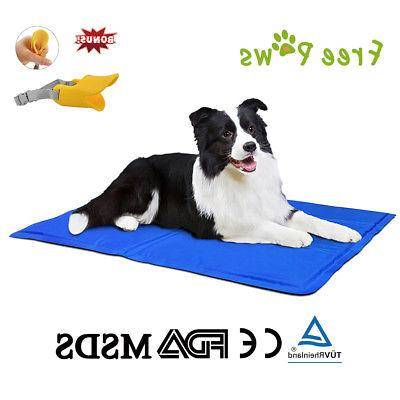 Free Paws Pet Cooling Pad Gel Mat Cooler For Dog Crate Bed K