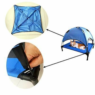 JANMO Cot Canopy Shelter Dog Bed Foldable