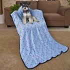 Pet Large Dog Blanket Cute Dots Fleece Fabric Soft Cat Bed K