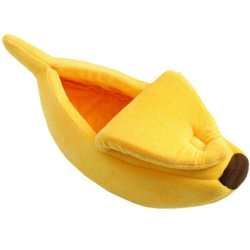 Pet Cat Bed Banana Warm Fleece