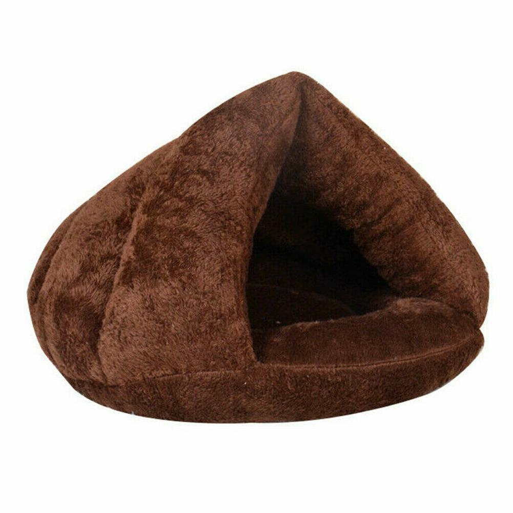 Pet Cat House Warm Bedding Cave Basket Kennel Washable Nest
